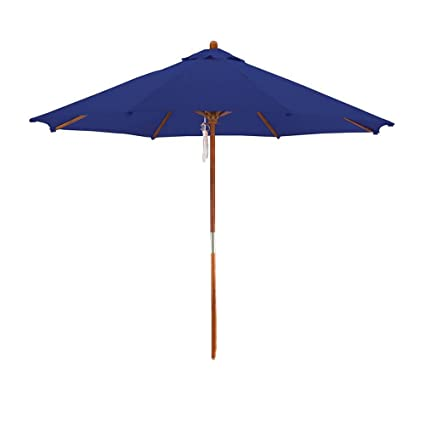 Superbe Phat Tommy Deluxe Market Umbrella In Navy Blue