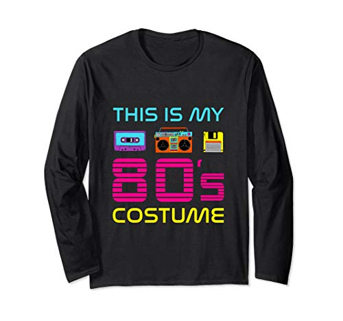 This Is my 80's Costume Easy Retro 1980's Party Cassette  Long Sleeve ()