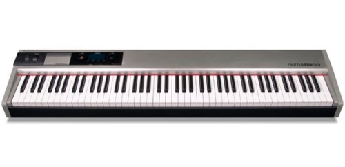 Studiologic NUMA NANO Ultra-Lightweight 88-Key Hammer Action Keyboard Controller, Brushed Aluminum