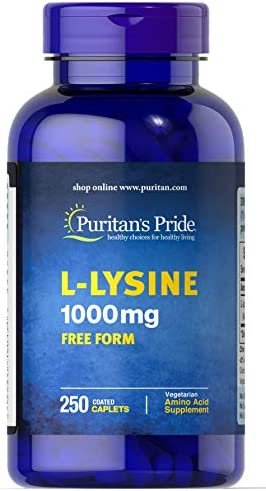 Puritan s Pride L-Lysine 1000 mg-250 Caplets