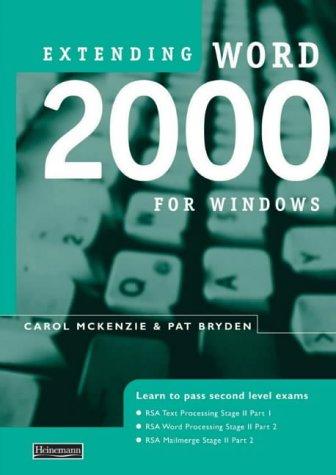 Extending Word 2000 for Windows pdf epub