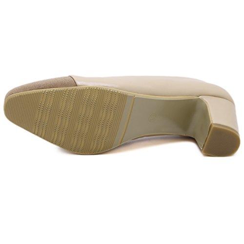 1TO9 mujer Zapatos Albaricoque Para cerrados aqCwrzS0nq