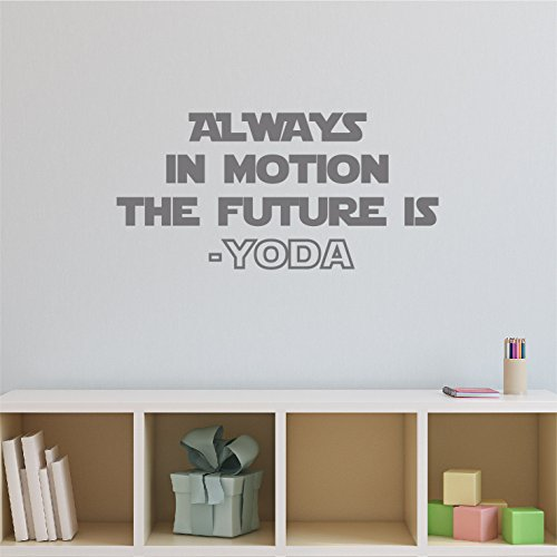 kiskistonite Wars Wall Art Wars Decor Wall Decal Quote Wars Decor Yoda Saying - Starwars Wall Decor Wall Movie Quote - Always in Motion 110x53 cm, for Bedroom]()
