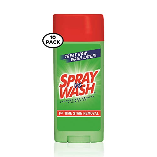 N Stain Stick Wash Spray - Spray 'N Wash Stain Stick Laundry Stain Remover, 3 oz (Pack of 10)