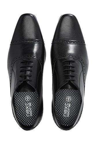 next Hombre Zapatos Puntera Perforada Zapatillas Negro