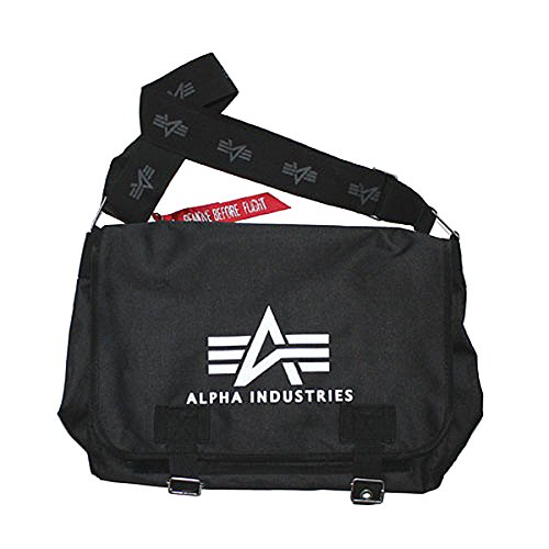 Alpha Industries - Bolso al hombro para hombre Big A black
