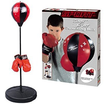 "PowerTRC Kids Boxing Punching Bag with Gloves 30"" - 40"""