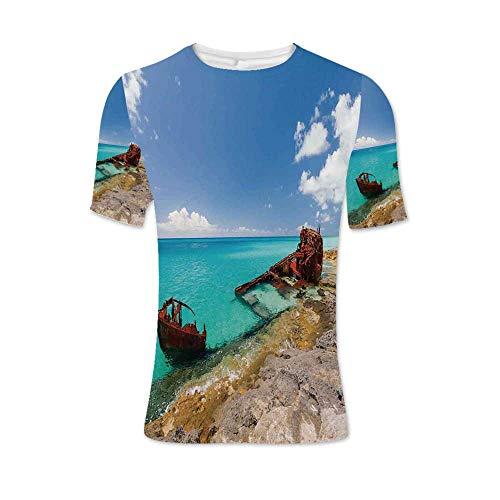 (Shipwreck Fashionable T Shirt,for Men,XL)