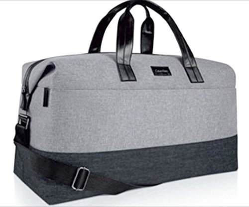 CALVIN KLEIN travel bag / weekend bag / duffle bag grey with black ...