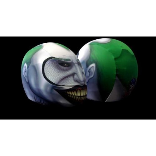 SkullSkins USA Made Graphic Protective Street Full Face Helmet Covers (110 Styles) - Frontiercycle (Free U.S. Shipping) (JOKER) ()