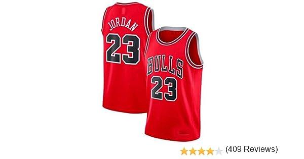 Zhao Xuan Trade Jersey Bulls Masculino Campeón de la NBA Vintage Michael Jordan Jersey Chicago Bulls # 23 Jersey de Baloncesto Swingman de Malla (Rojo, L): Amazon.es: Deportes y aire libre