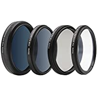 Hrome Camera Filters Set For DJI Zenmuse X5 X5R X5S  Inspire 1, Multi Coated Ultra-High Definition Optical Glass, Filters Kit Include: UV Filter + CPL Filter + ND16 Filter + ND2-400 Filter,4-pack
