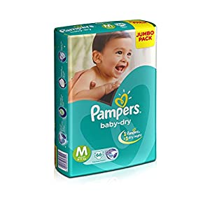 Pampers Taped Diapers, Medium, (MD),...