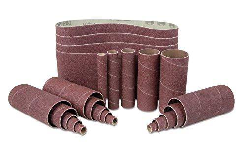 WEN 6523SP120 120-Grit Combination Belt & Sleeve Sandpaper Set, 24 Pack