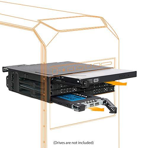 ICY DOCK ToughArmor MB606SPO-B 6 x 2.5 SAS/SATA SSD/HDD & Ultra Slim Optical Disk Drive Backplane Cage for External 5.25
