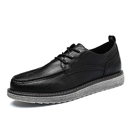 Casual Casual da uomo Oxford Fashion New Handcrafted Retro Simplicity Outsole Formal Shoes,Scarpe Uomo Pelle (Color : Nero, Dimensione : 39 EU) Nero