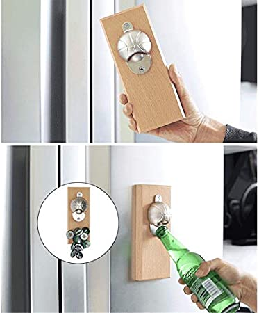 yywl Sacacorchos Nuevo abridor automático de botellas para vino tinto Oso Fútbol Tabla de madera magnética Frigorífico abridor de vino tinto Abridor de Jar Opener