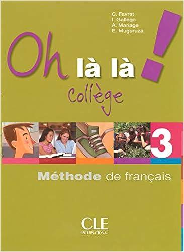 Methode De Francais College Niveau 3 Livre Cahier