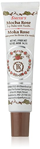 Rosebud Lip Balm Tube, Mocha Rose.5 Ounce (Lip Rose Vanilla Balm)