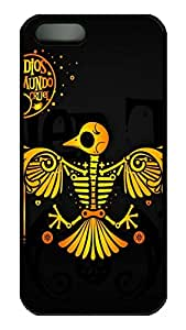 iPhone 5 Case, iPhone 5S Cases - Scratch-Resistant Hard Case Cover for iPhone 5/5s Abstract Bird Thin Fit Black Hard Back Case Bumper for iPhone 5/5S