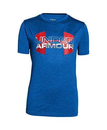 Under Armour Boys' UA Tech Big Logo Hybrid T-Shirt Large / 14-16 Big Kids ULTRA BLUE
