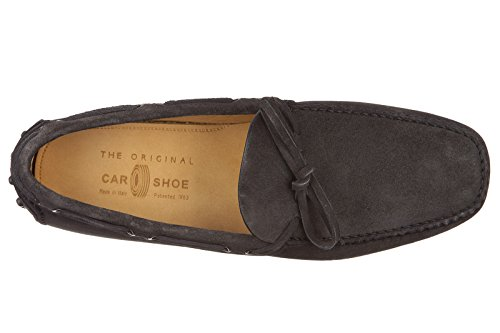 Car Shoe Wildleder Mokassins Herren Slipper Grau