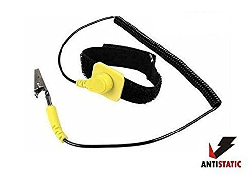 Static Control Wrist Strap (iMBAPrice® Anti-Static Adjustable Grounding Wrist Strap Components Black, Yellow)