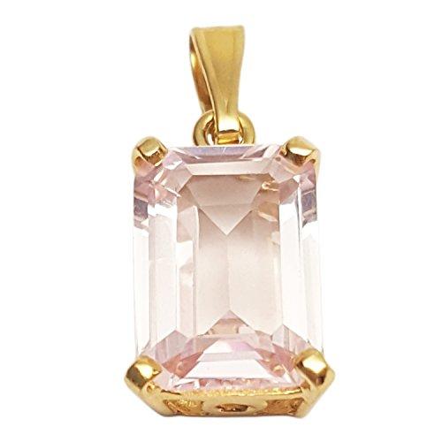 Clearance Pendentif Femme en Or 18 carats Jaune avec Rose de France, 3.5 Grammes