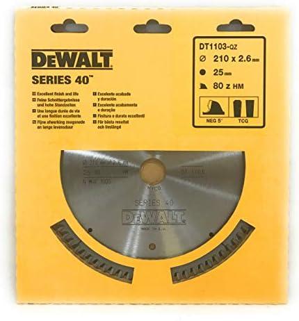 DeWalt DT1103-QZ Saw Blade Diameter 210 x 2.6 x 25 mm Z = 80HM, NEG5 - ATB/DL
