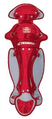 Champro Senior Pro Plus League Leg Guard (Scarlet, 14.5-Inch) ()