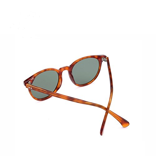acetato G15 Guía polarizadas Demi Anteojos Unisex C03 C03 de redonda G15 Demi clásica en hombres gafas sol Gafas Sunglasses TL qPH8BB