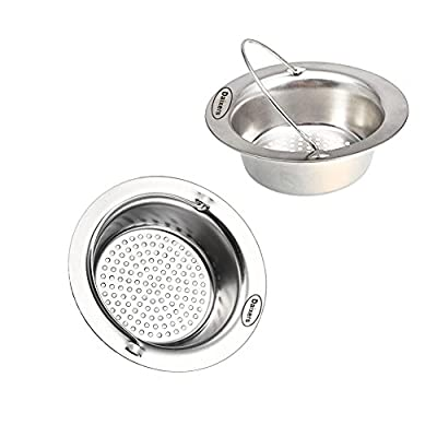 Daixers 2 Pack 4.3 Inch Kitchen Garbage Sink Strainer Heavy-Duty Stainless Steel