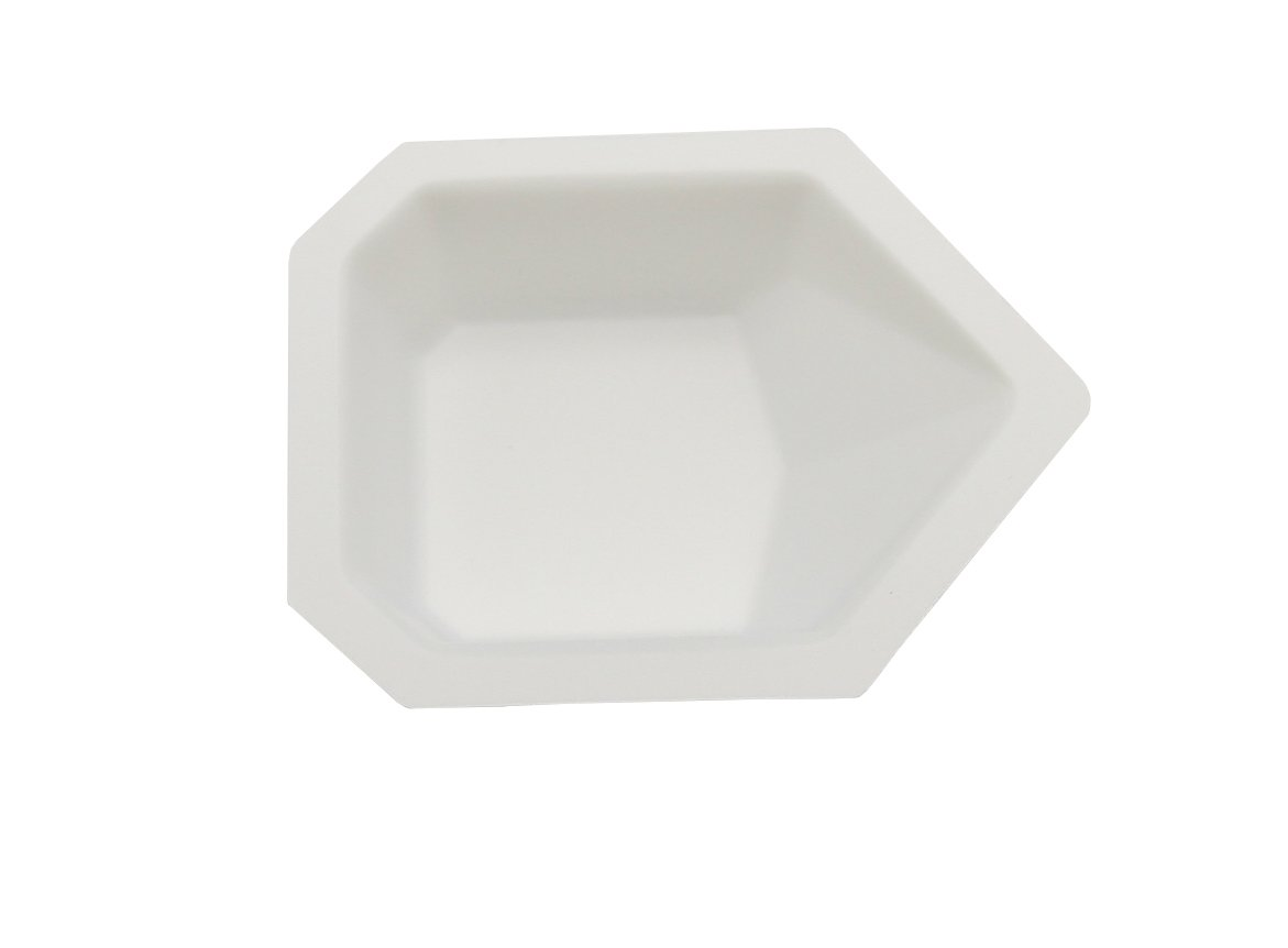 Heathrow Scientific HS1419A Pour-Boat Weighing Dish, Polystyrene, Small, 43 mm L x 58 mm W x 13 mm D, White (Pack of 500) by Heathrow Scientific