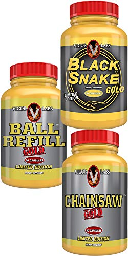 Vigor Labs Bundle of Chainsaw Gold, Black Snake Gold, Ball Refill Gold
