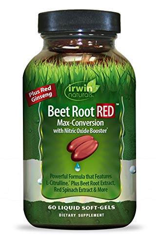 Irwin Naturals Beet Root RED with Nitric Oxide Booster 68 Liquid Soft-Gels
