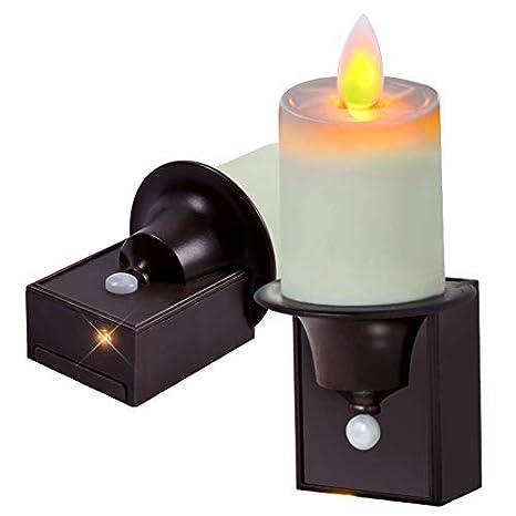 Juego de 2 luces nocturnas con sensor de movimiento PIR de 5 ...