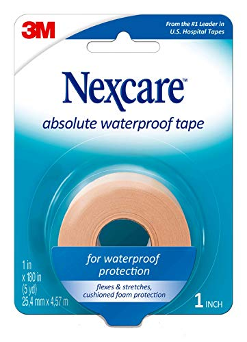 Nexcare Absolute Waterproof Tape, Tears Easily, From the #1 Leader in U.S. Hospital Tapes