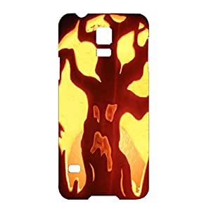 Mysterious Witch Halloween Pumpkin Back Hard 3D Phone Case For Samsung Galaxy S5 Mini