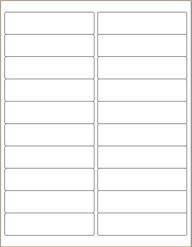DigiOrange Pack of 2000 White Mailing/Shipping/Address Labels for Laser/Inkjet Printers 4