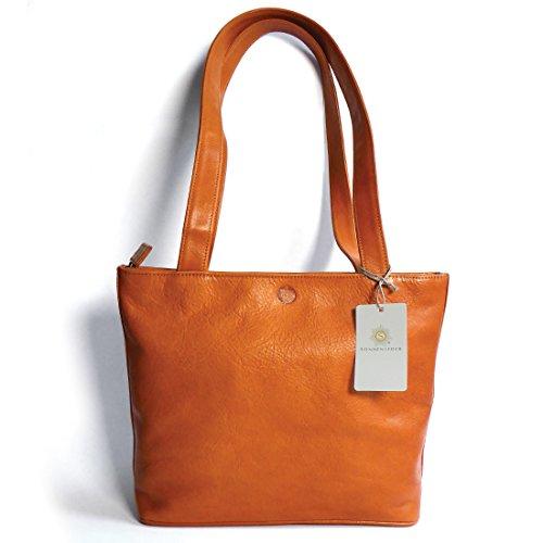 """Sonnenleder - Shopper qualità """"Sevilla K"""" Colore: naturale, fodera: Ecru * Vera Pelle *"""