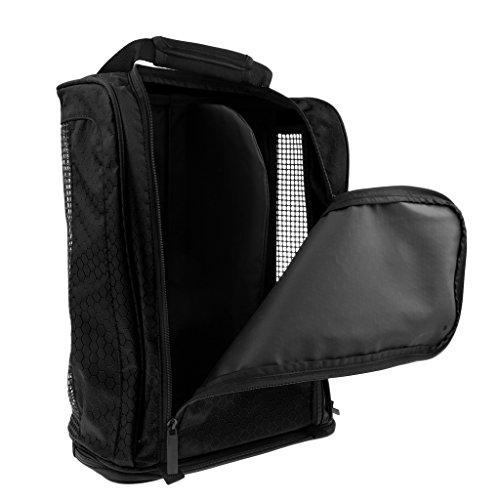 (simhoa Travel Sports Basketball Golf Shoe Bag Zippered Storage Carrier Holder Pouch - Black )