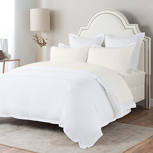 Briarwood Home Brushed Flannel Sheet Set - Turkish Cotton Flannel Bedding Set Perfect For A Cold Night, Durable Warm, Deep Pocket & Breathable Flannel Sheets & Pillow Set (King, Ivory)