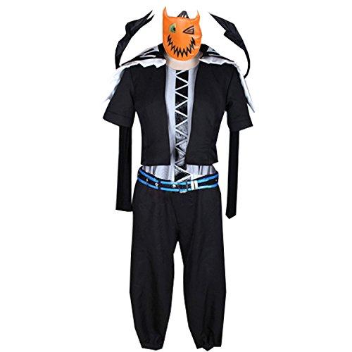Anime Sora Cosplay Uniform Costume with Mask Wings Custom Made Halloween (XXL)