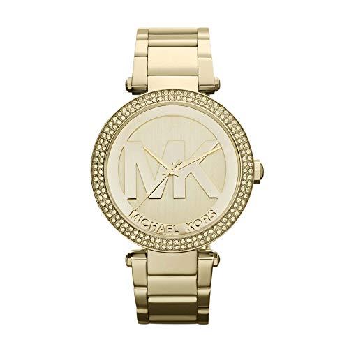 Michael Kors Women's Parker Gold-Tone Watch MK5784 (Cyber Monday Sales On Michael Kors Watches)