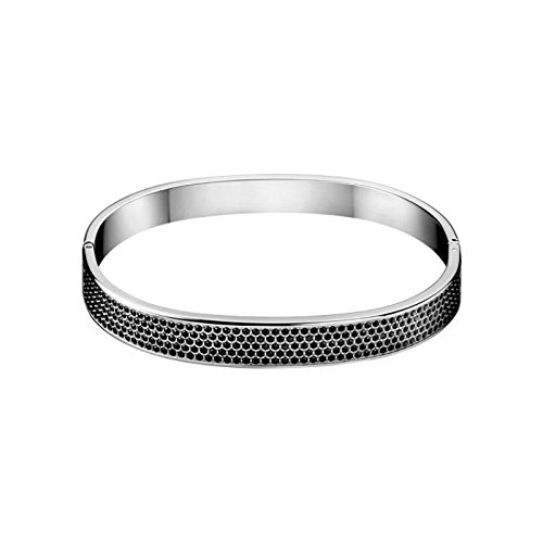 CALVIN KLEIN - Bracelet Rigide Fermé Pierres Noir Calvin Klein Hook - - S