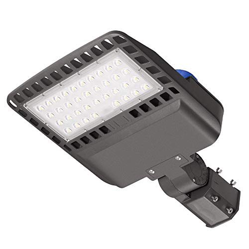 100W LED Parking Lot Light with Photocell, 13000 LM LED Flood Barn Yard Wall Lights, 5000K 300W Equivalent MH/HPS Replacement, Dusk to Dawn LED Outdoor Lighting for Backyards Area Porch Lights, IP65
