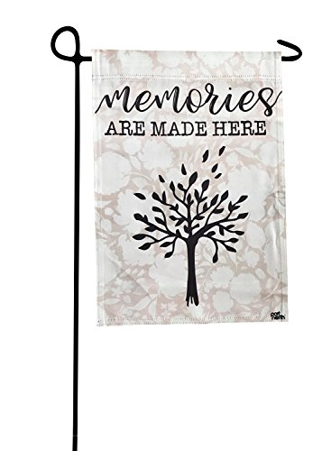 (Garden Flag - Memories Are Made Here Double Sided Decorative Flags for Outdoors - Weather Tested and Fade Resistant USA Designed - Best for Party Yard and Home Outdoor Decor - 12x18 inches )