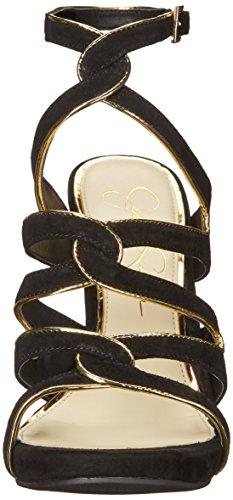 Jessica Simpson Womens Reyse Tacco Sandalo Nero / Oro