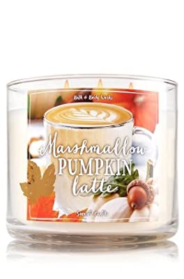 Bath Body Works Marshmallow Pumpkin Latte 3 Wick Scented Candle
