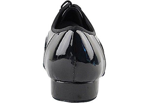 """Mens Ballroom Dance Schuhe Standard & glatte Tango Hochzeit Salsa Schuh 916102EB - sehr fein 1 """"[Bündel von 5] Schwarzes Patent und schwarzes Leder"""